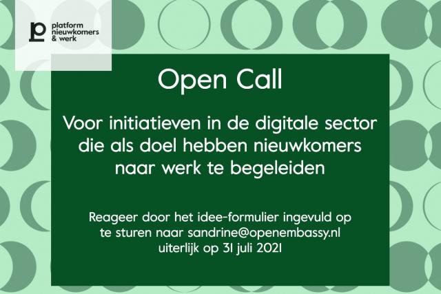 Open Call initiatieven digitale sector
